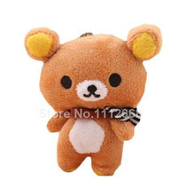 Kawaii Valentine Rilakkuma Bear Plush Stuffed Toys,11CM Rilakkuma Plush Soft Figure Doll,Key Chain Design,Bag Pendant Charm Toy(China)