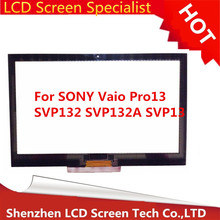 "13"" Inch Black New For Sony Vaio Pro13 SVP132 SVP132A SVP13 Touch Screen Digitizer Glass Sensor Replacment Parts"