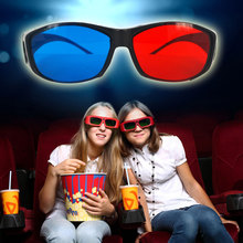 kebidumei 2pcs/lot 3D Glasses Red Blue or Universal TV Movie Dimensional Anaglyph Framed 3D Vision Plastic Glasses(China)