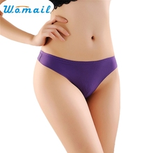 Buy Womail Newly Design Womens Sexy Trace Cotton G-string Thongs T-back Panties Knickers Lingerie Drop Shipping