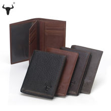 Men Wallets Large Zip Coin Bags Genuine Leather Credit Card Slots Photo Holder Thickening Casual Purse Zipper Pocket Bag Large