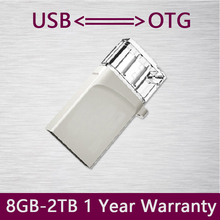 Hot Sale Metal OTG USB Flash Drive 512GB 256GB Mobile Pendrive 8GB 16GB 32GB 64GB USB Stick External Memory Storage Pen Drive
