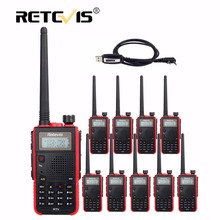 10pcs Cheap Walkie Talkies Retevis RT5 5W 128CH VHF UHF Dual Band FM Radio Scanner Hunting Portable 2 Way cb Radio Communicator