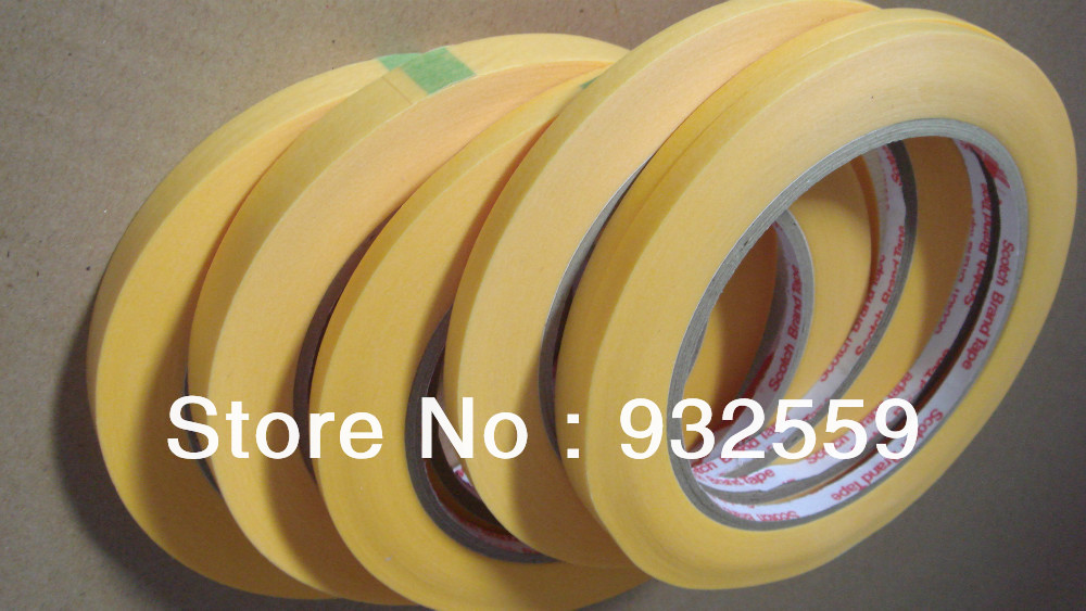 100% original Guaranteed free shipping 3M 244 , a right tape for paint masking ,12mmX50M/roll, 5rolls/pack<br>