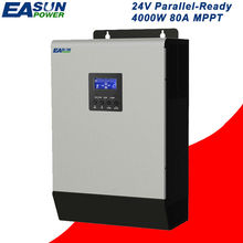 Parallel Inverter 24V 5Kva 4000W EASUNPOWER 80A MPPT Solar Inverter 220V Pure Sine Wave Inverter Off Grid Inverter 60A ACCharger