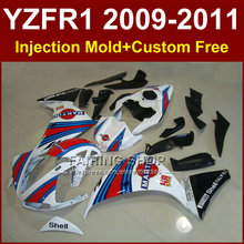 MARTINI white body parts for YAMAHA fairings YZFR1 2009 2010 2011 Injection mold YZFR1 09 10 11 12 R1 bodywork YZF1000 R1+7Gifts