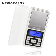 NEWACALOX 200g x 0.01g Mini Precision Digital Scales for Gold Bijoux Sterling Silver Scale Jewelry 0.01 Weight Electronic Scales(China)