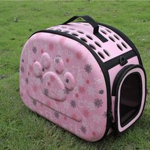 Pink/Gray Pet Dog Carrier Portable Puppy Travel Tote Shoulder Bag Cage Kennel Bed Breathable Pet Sleeping Carry Bag Pet Favor