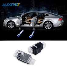 Car LED Ghost Shadow Projector Laser Courtesy Quattro Logo Door Light For Audi Sline A8 A7 A5 A6 A4 A3 A1 R8 TT Q7 Q5 Q3 C6 B5(China)