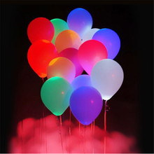 10PCS LED Balloons 12 Inches Latex Multicolor Lights Helium Balloons Festival Decor Wedding Birthday Party Decoration