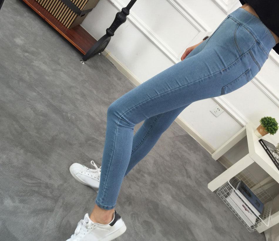 BIVIGAOS Basic Skinny Womens Jeans Ankle Pencil Pants Slim Elastic Denim Pants Jean Leggings Female Cotton Jeggings Jeans Women 5