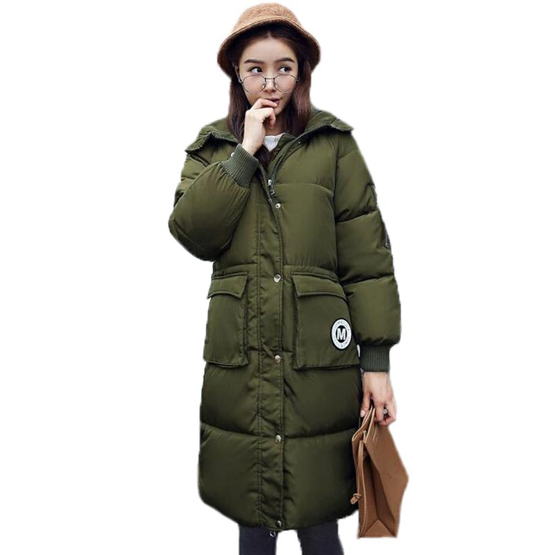 New 2016 Womens Winter Jacket Parkas Hooded Cotton Jackets Women Winter Coat Long Sections Wadded Thick Coat PW0974Одежда и ак�е��уары<br><br><br>Aliexpress