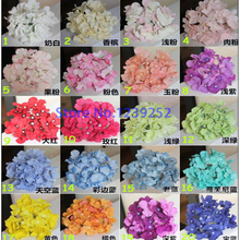 NEW 100 Pcs/Lot 15 cm Artificial Hydrangea Silk Flowers Heads Decoration for Wedding Party Banquet Home Decorative Flowers(China)