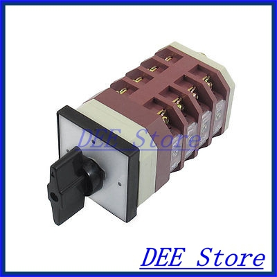 Three Position 16 Screw Terminal AC 660V 10A Cam Combination Changeover Switch<br><br>Aliexpress