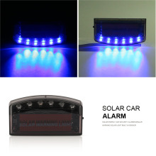Solar Energy Car Security Alarm Flash Blue Light 6LED Burglar Warning Solar Light Built-in Sensor Increase Traffic Safety