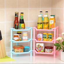 NEW Fashion Shelf Kitchen Storage Detachable Three-layer Magazine Rack Bathroom Shower Shelf PP Rack Floor Type Bathroom Shelves