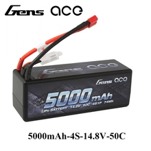 Gens ace Lipo Battery 14.8V 5000mAh Lipo 4S 50C RC Battery Pack Deans Plug for 1/8 1/10 Car RC Boat Top Performance(China)