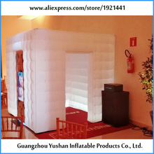 Competitive price 7.8ft cube inflatable photo booth frame for advertising