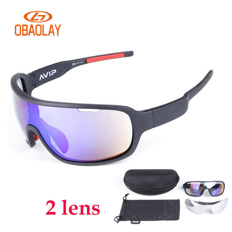 c5d975a6937 2018 2 Lenses Glasses Cycling Sunglasses MTB Bicycle Bike Goggles Men Women  UV400 Eyewear 9 Colors