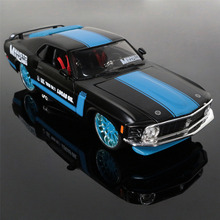 Maisto 1:24 1970 Mustang Boss 302 Diecast Model Fast & Furious Character Car Without Light & Sound Car Kids Toys(China)