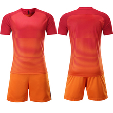 2017 New Design Stock Soccer Uniform orange color available quick dry material
