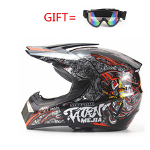 Motocross Helmet Off Road Professional ATV Cross Helmets MTB DH Downhill Racing Motorcycle Helmet Dirt Bike Moto with goggle(China)