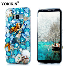 YOKIRIN S8 Plus Rhinestone Case 3D Bling Diamond Capa Funda Protective Back Cover Hard Phone Case For Samsung Galaxy S8 Plus(China)
