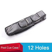 New Soft Pool Cue Case 1/2 Pool Billiard Cues Cases 12 Holes Leather PU Billiard Accessories China