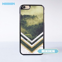 MINIKIN Chevron Negatives x Mountain Forest Cell Phone Protective Case For iPhone 7 7 Plus 6 6S Plus SE 5 5S 5C 4 4S(China)