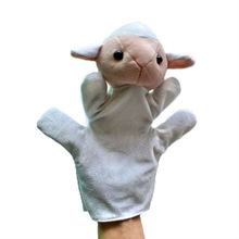 Plus sheep hand puppet, stuffed sheep hand puppet, hand puppets free shipping t(China)