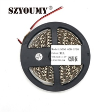 SZYOUMY New Arrival ! UV Black Light Led Strip 5050 SMD 60led/m Non waterproof Ultraviolet Ray Purple Flexible Tape Ribbon lamp