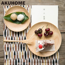 High Quality Beech Plates Wooden Tableware Beech Wood Plate Handmade Sushi Dish For Daily Uses Or Gifts