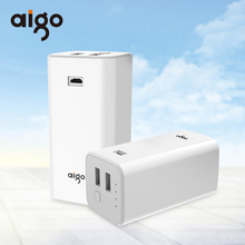 Buy 10000mAh Aigo Power Bank 2 USB Outputs Quick Charge Portable Mobile Backup Powerbank External Battery Iphone 7 7s 8 X for $15.11 in AliExpress store