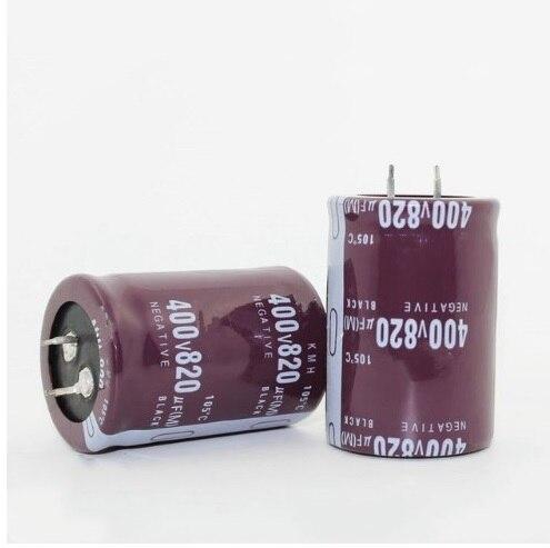 2Pcs 10X25mm 820uf 35V  105C