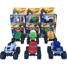SHINEHENG 6pcs/set Blaze Monster Machines Sliding Vehicle Cars Transformation Toys BEST Birthday Christmas Gifts For Kids