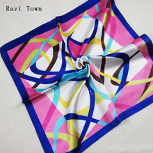 Ravi Town Square Scarf 2017 Summer Burst Models Office Bank Flight Attendants Professional Ladies Wild Thin Section(China)