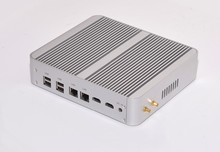 12V Industrial Fanless mini pc X86 Micro computer Core I5-5200U Office Dual core 2 RJ45 USB 3.0 Thin pc