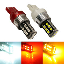2pcs T20 7443 W21W 7440 WY21W 2835 LED Car Brake Light Source Daytime Running Light Backup Reverse Light Parking Lamp 12V