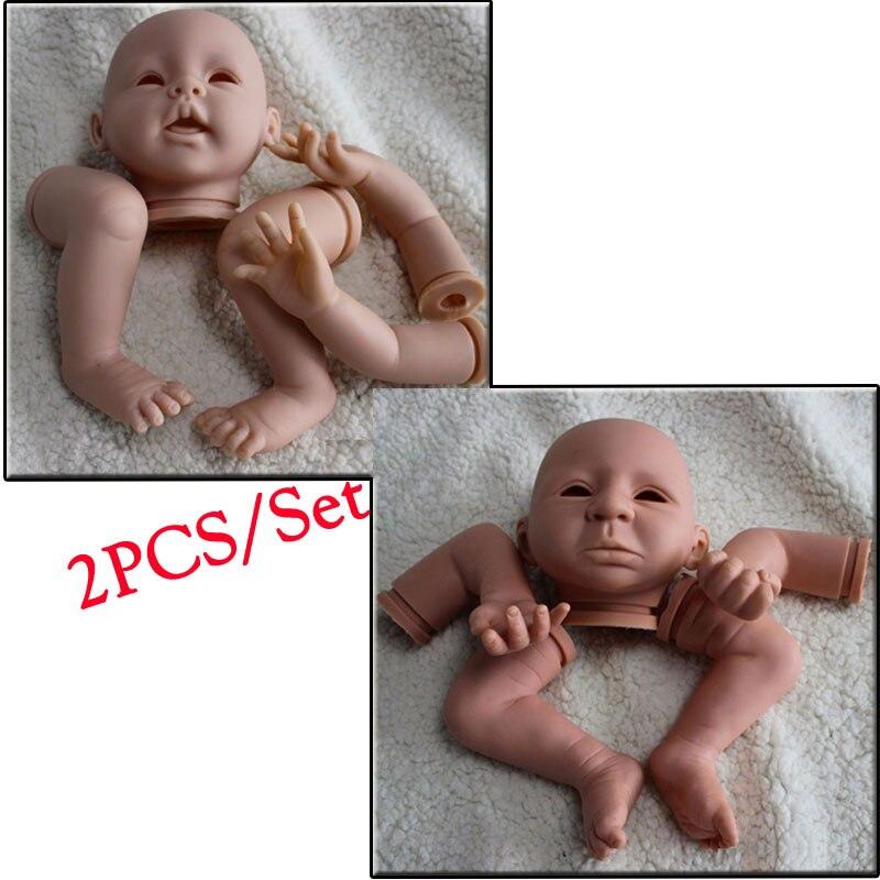 2pcs 21inch DIY Baby Doll Kit Kits#DK-14 Silicone Reborn Baby Doll Kit Assembly Bebe Reborn Doll Model Kit Toys Accessories<br><br>Aliexpress