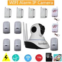 ptz ip camera combined wireless wifi alarm system house alarme residencial sistema with rf 433mhz detector for home security