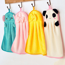 Home Use 3Pcs Cartoon Hand Towel Cleaner Washcloth Coral Velvet Facecloth Car Washing Cleaning Kitchen Bathroom Hanging Towels