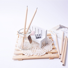 Basswood HB Pencil Environmental Protection Pencil Drawing Wooden Hexagon School Office Supplies South Korea Stationery