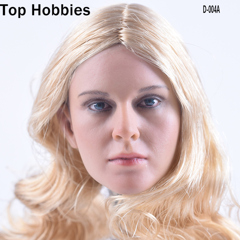 DSTOYS D-004A 1/6 Female Head Sculpt A Blond Hair Beauty Headplay Fit 12 Inch Phicen Action Figure Doll Toys<br>