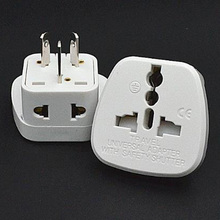 Multifunction white 10A 250V CE certified connector UK EU US to AU travel plug adaptor with security door