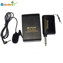 Binmer New Wireless FM Transmitter mini Microphone Receiver Lavalier Lapel Clip Mic System AU4 Drop Shipping MotherLander