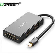 Ugreen Thunderbolt Mini Displayport DP to HDMI VGA DVI Adapter Converter Cable For Apple MacBook Air Pro Mini DP to HDMI VGA DVI(China)