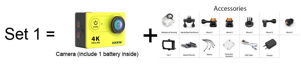 New Arrival!Original Eken H9R / H9 Ultra HD 4K Action Camera 30m waterproof 2.0' Screen 1080p sport Camera go extreme pro cam 3