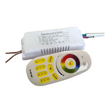 1X Constant current RGBW CCT & RGB adjustable and dimmable led driver 95-265V input 18-28W with 2.4G RF remote controller