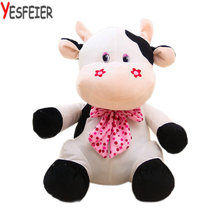 big size animals toys kids toys milk cow cloth doll 23/35cm drop shipping cartoon sitting Cattle plush toys(China)