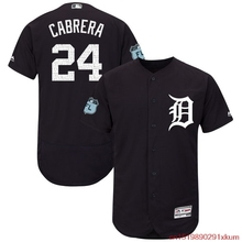 MLB Men's Detroit Tigers Miguel Cabrera Baseball Navy 2017 Spring Training Authentic Flex Base Player Jersey(China)
